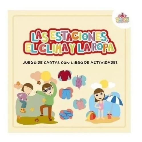 Cartas + Libro La Estaciones El Clima Y La Ropa Pictogramas