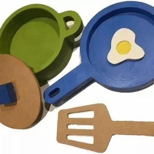 Batería De Cocina Infantil Madera