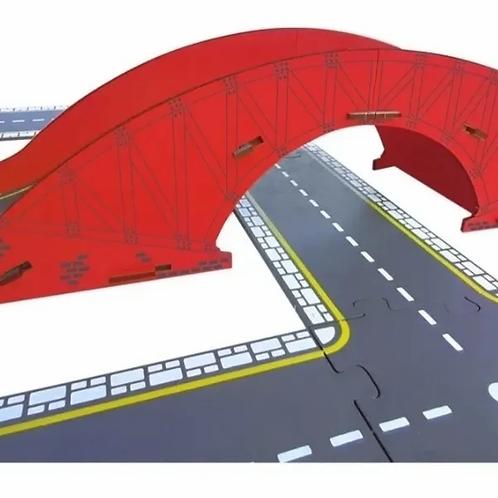 Puente Mis Calles Madera Encastrable Didáctico Construcción