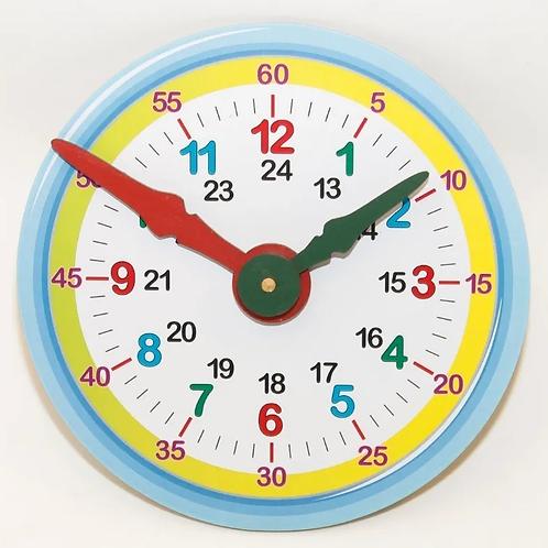 Reloj Para Aprender La Hora Didáctico En Madera