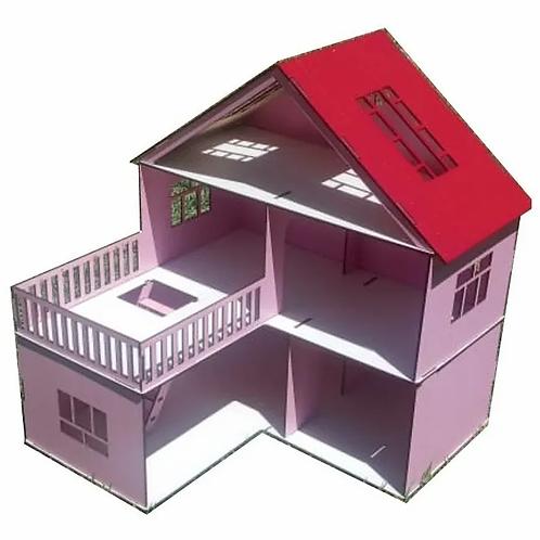 Casa Casita De Muñecas Lol Madera Pintada De Colores Hermosa