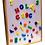 Thumbnail: Pizarra Pizarrón Madera Didáctico Magnética Doble Letras Numeros