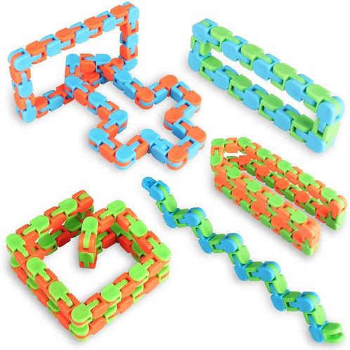 Serpiente Vibora Articulada Antiestress Fidget Toy Concentración