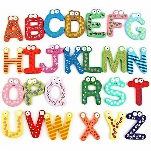Letras Imantadas + Números Madera Ideal Para Souvenir 6 Cm