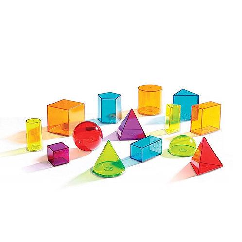 Formas Geométricas Translúcidas Ideal Mesa Lumínica Colores