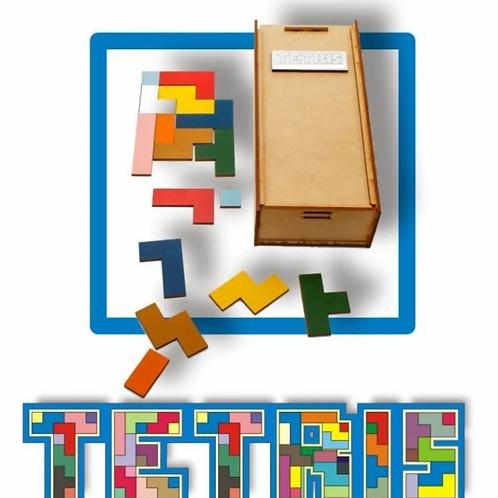Juego De Ingenio Didáctico En Colores Tipo Tetris Madera