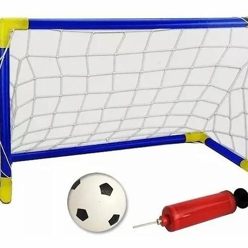 Arco De Fútbol Desarmable Red Pelota Inflador