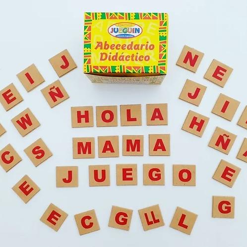 100 Letras Abecedario Didactico Lectoescritura en Madera