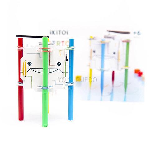 Robot P/armar Vibra Y Dibuja Creatividad Motricidad