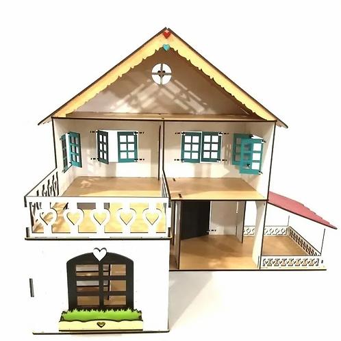 Casa Casita De Muñecas Lol Madera Pintada Juego Simbólico