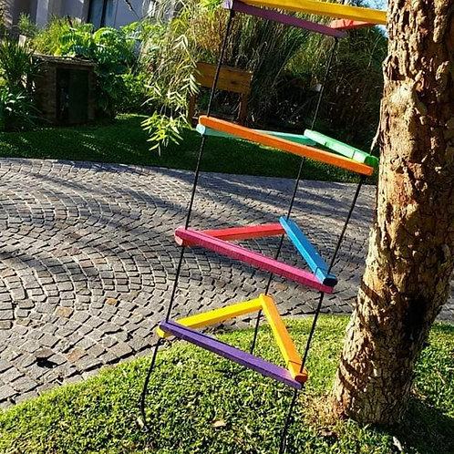 Trepadora Escalera De Madera Artesanal Niños Triangular