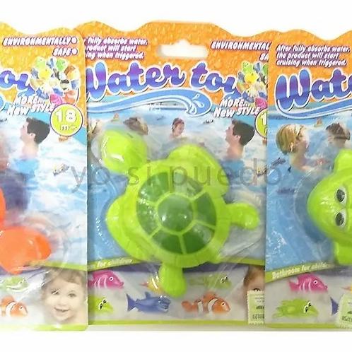 Juego P/ Agua Baño Pileta Animalitos Que Nadan