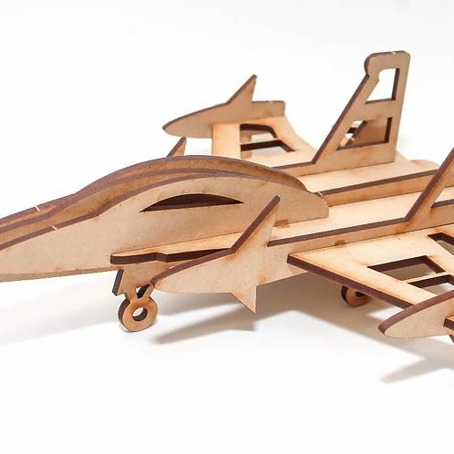 Maqueta Encastrable Avión F-17 25cm Didáctico Concentración