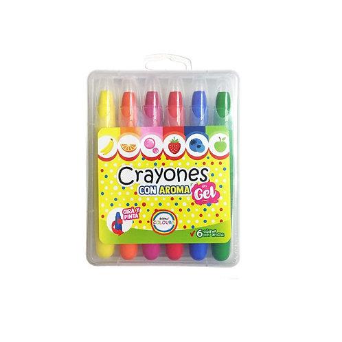 Crayones En Gel Con Aroma Motricidad Estimul. Multisensoria