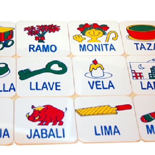 Domino De Silabas Asociación Imagen-silaba