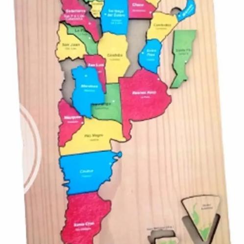 Rompecabezas Mapa Argentina Madera Provincias Y Capitales
