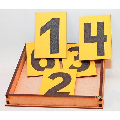 Números De Lija Montessori En Caja De Arena Madera