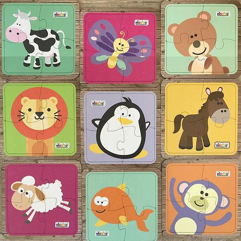 PUZZLES DE ANIMALES CON BASE