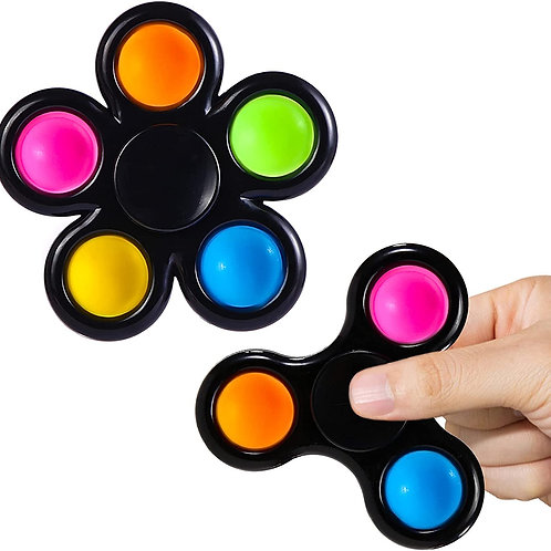 Pop It+spinner 2 En 1 Juguete Antiestres Ansiedad Fidget