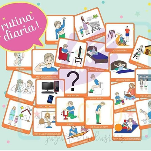 PICTOGRAMAS DE RUTINA DIARIA