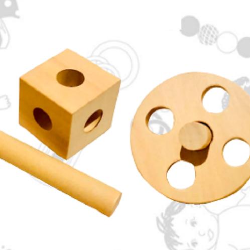 Kit Bebes Montessori Madera Motricidad Estimulacion Cognitiva