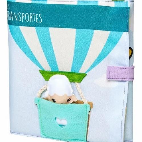 Libro Sensorial De Tela Escenas Infantil  Los Transportes