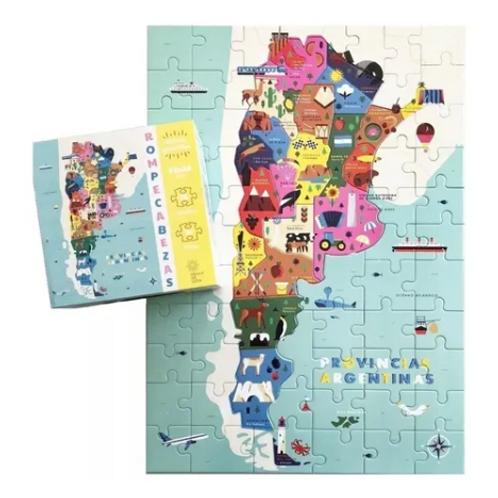 Rompecabezas Mapa ' Provincias Argentinas' 77 Pzs Didactico