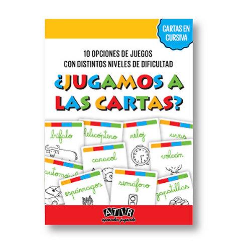 JUEGO DE CARTAS EN CURSIVA