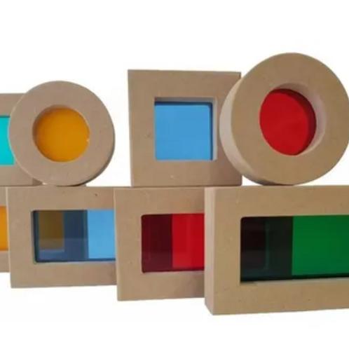Bloques Exploración Madera Didácticos Motricidad Montessori