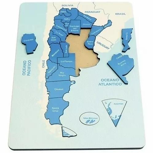 Rompecabezas Madera- Mapa Argentina Encastre