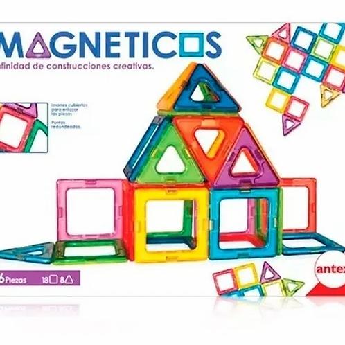 Juego Bloques Magnéticos Imantados 26 Pzas Estimulación