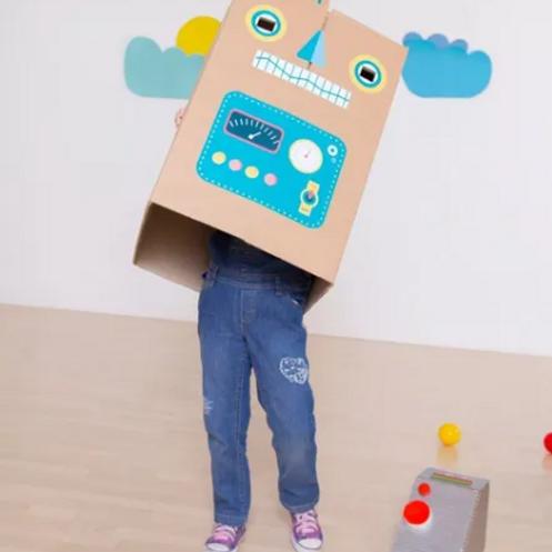 Sitikers Gigantes Convierte Cajas En Robot Cocina Auto Lavar