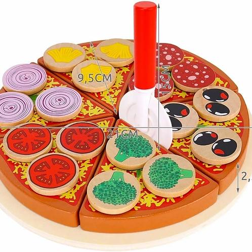Juego De Pizza Madera Para Cortar Con Abrojo