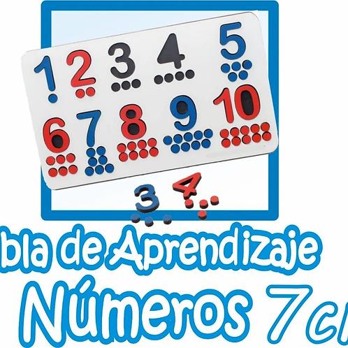 Encastres Tabla Aprendizaje Números 1 Al 10 Matemática Montessori 45cm