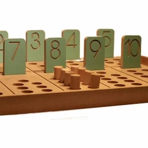Tabla Numerica Montessori Ideal P/aprender A Contar