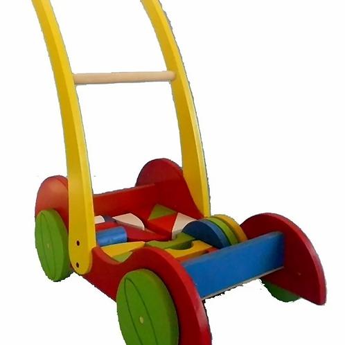 Carro Carrito Caminador Madera Bebes Caminador Andador