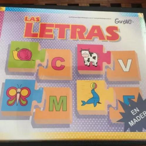 Juego De Asociación Letra-figura En Madera Lectoescritura