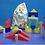 Thumbnail: Bloques Construcción Madera Muuuy Grandes Motricidad 36pzs