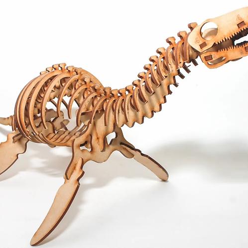 Rompecabezas P/armar Maqueta 3d Madera Plesiosaurio Dinosauro