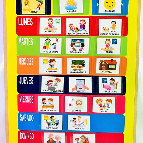Agenda Visual Semanal+72 Pictos Tea Actividades Vida Diaria