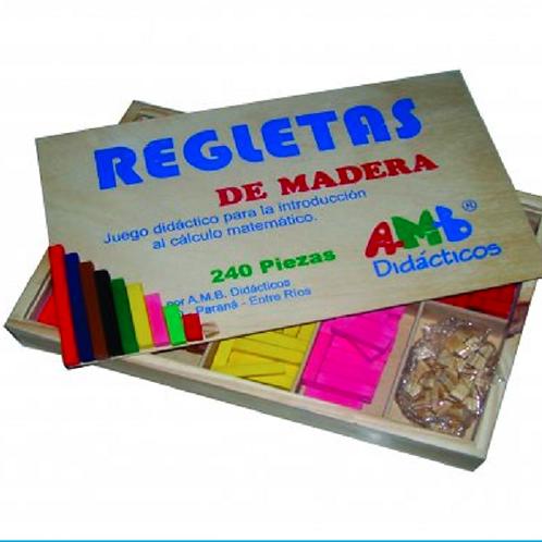 Regletas En Madera X 240 Unidades Matemática Didçacticas