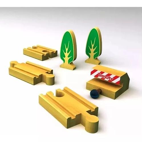 Trencity Kit Expansion De Vias Especiales 6 Piezas Madera