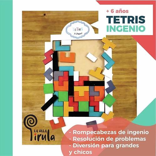 Juego De Ingenio Rompecabezas Tetris Didáctico De Madera