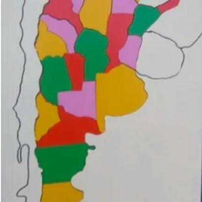 Encastre Mapa Argentina Rompecabezas Madera Didáctico 43cm!