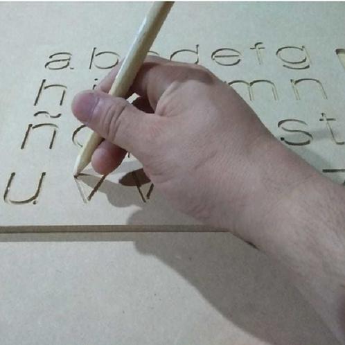 Tabla Con Abecedario En Imprenta Pre-escritura Motricidad