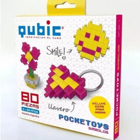 Qubic Cubos De Construcción 80 Piezas Motricidad Fina