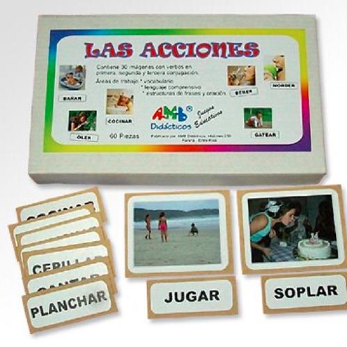 Tarjetas De Acciones Expresión Oral Vocabulario