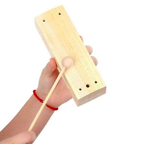 Caja China Instrumento Musical Madera Didáctico Escuelas