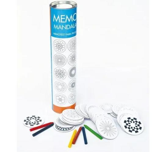 Memotest Didáctico De Mandalas P. Pintar 48 Pzas Crayones