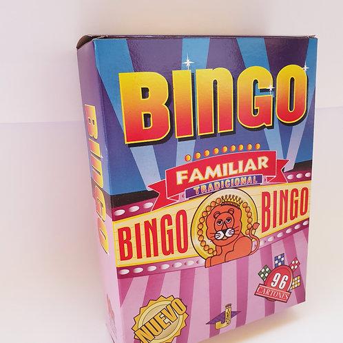 Juego Bingo Familiar Diversión Números Didáctico Atención